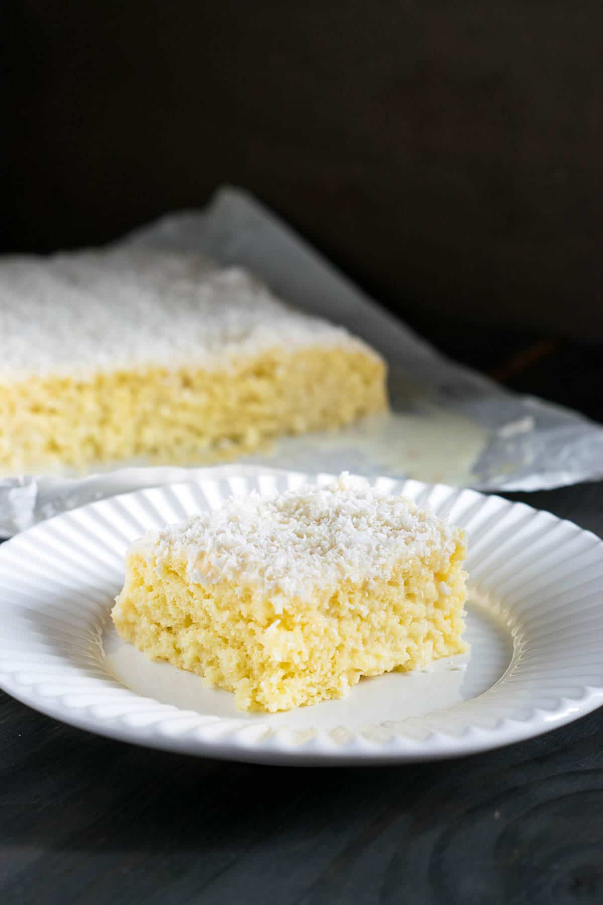 brazilian sweets - cold coconut cake