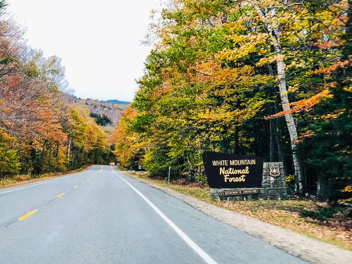 Kancamagus Highway during fall